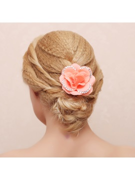 Diamond Decorated Flower Bridal Hair Claw