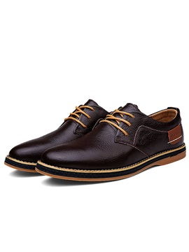 Embossed Round Toe Lace Up Mens Shoes