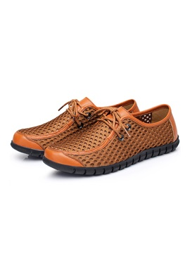 Mesh Patchwork Air Permeable Mens Shoes
