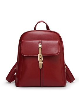Fashion With Buckles Women Backpack