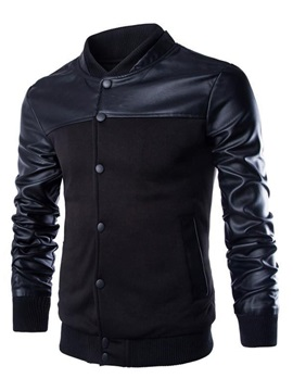 Slim Fit Mandarin Collar Button Front Mens Jacket