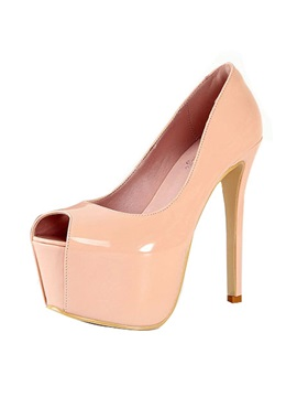 Peep Toe Platform Stiletto Heel Pumps