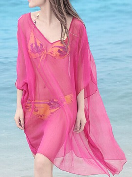 Hot Sale Solid See Through Women Beach Sarong