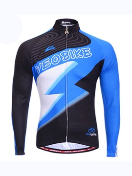 Color Block Lighting Mens Cycling Jersey