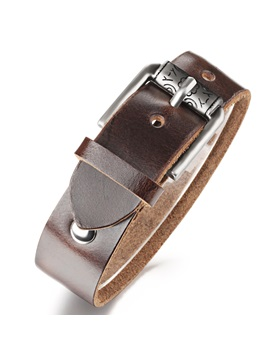 Belt Shaped Leather Bracelet