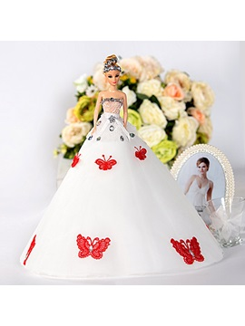 Butterflies Wedding Barbie Doll Bridal Gift