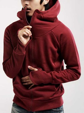 Casual Fashion Zip Long Sleeve Men Hoody