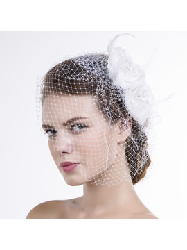 Bridal Hair Flower Wedding Veil