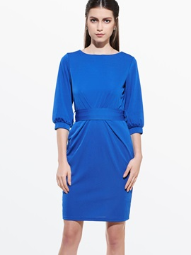 Chic 3 4 Sleeve Empire Eaist Day Dress
