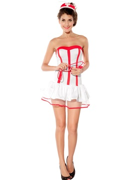 Top Sale Fashion Women Nurse Costume