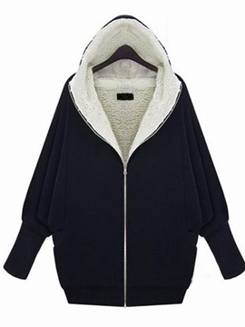 Splendid Zipper Hooded Short Hoodie