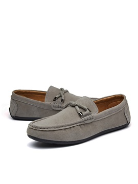 Suede Slip On Lace Up Preppy Mens Shoes