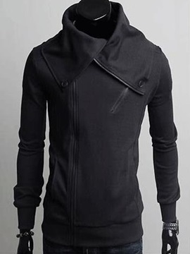 Top Quality Solid Zipper Mens Hoody
