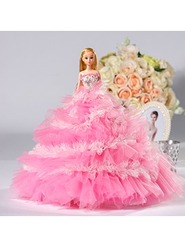 Pink Wedding Barbie Doll Children`s Gift