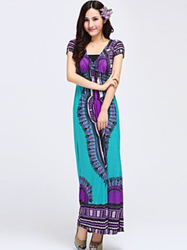 International Concepts Print Bohemian Maxi Dress