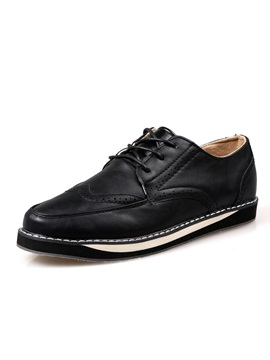 Pu Lace Up Mens Brogues