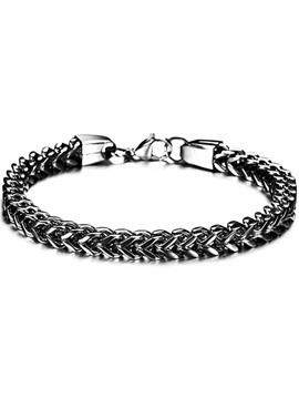 Personalized Alloy Mens Bracelet