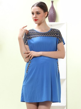 Loose Fit Lace Stitching Maternity Dress