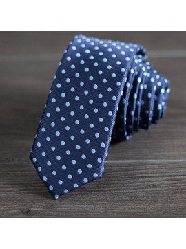 Handsome Polka Dot Decorated Mens Necktie