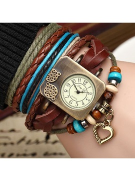 Vintage Multi Layer Womens Bracelet Watch