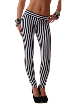 Stripe Printed Drop Waist Leggings