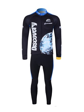 Quick Drying Long Sleeve Mens Cycling Oufit