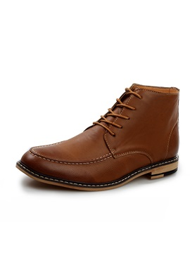 Thread Pointed Toe Mens Boots