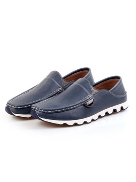 Thread Pu Round Toe Mens Shoes