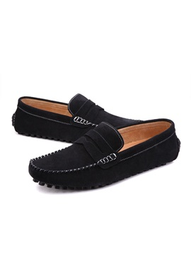 Suede Simple Multi Color Slip On Mens Loafers
