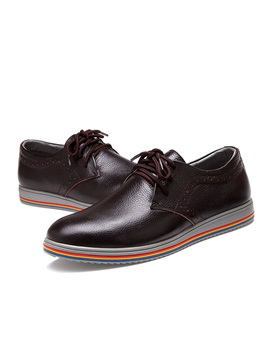 Colored Sole Round Toe Lace Up Mens Brogues