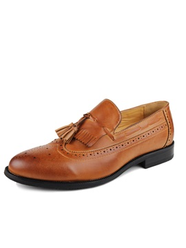 Tassels Pointed Toe Slip On Mens Shoes