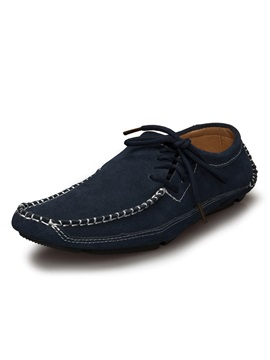 Square Toe Lace Up Mens Shoes