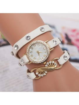 Three Layer Round Dial Womens Watch