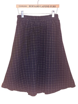 Plaid Standard Waist Knee Length Womens Skirt