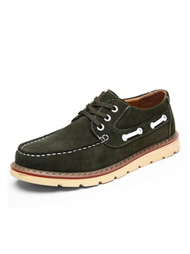 Suede Lace Up Mens Boat Shoes