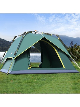 Double Layer 3 4 Person Pop Up Tent