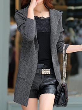 Big Pocket Hooded Cardigan