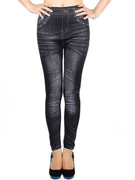 Slimming Polyester Pleated Leggings