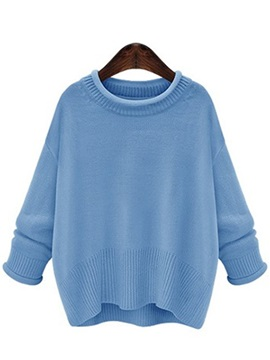 Simple Round Collar Short Sweater