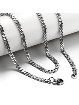 Simple Style Mens Compressed Necklace
