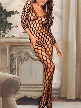 Beautiful See Through Black Women Body Stocking