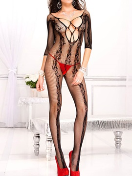 Graceful See Through Women Body Stocking