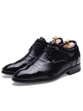 Ruched Plain Toe Lace Up Dress Shoes