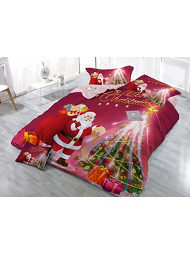 Father Christmas Gift Image 4 Piece Bedding Sets