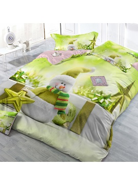 Snowman Image 4 Piece Bedding Sets