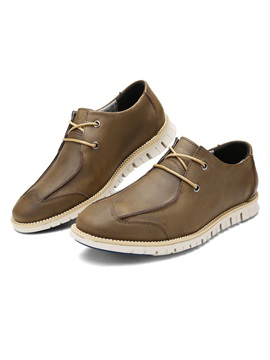 Pu Lace Up Mens Casual Shoes