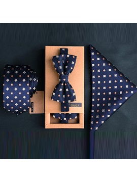 Floral Printed Mens Necktie Set Price For A Set