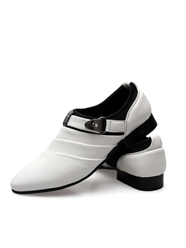 Buckles Ruched Slip On Mens Dress Shoes