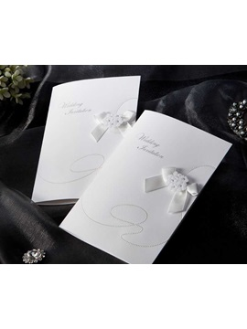 Cheap Free Printable White Wedding Invitations 20 Pieces One Set