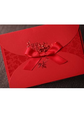 Elegant Red Wedding Invitation Cards 20 Pieces One Set